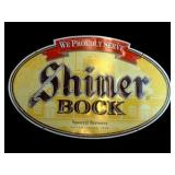 Large Oval Shiner Bock Beer Sign