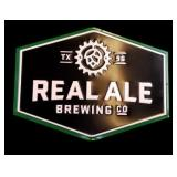 Texas 1996 Real Ale Brewing Co. Beer Sign