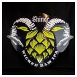2015 Shiner Wicked Ram IPA Metal Beer Sign