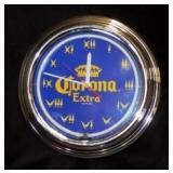 Neon Corona  Beer Clock - Works!