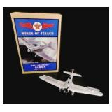 Wings of Texaco Die Cast Metal Airplane Bank