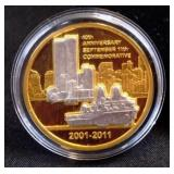 10th Anniversary Sept. 11th Commemorative Coin