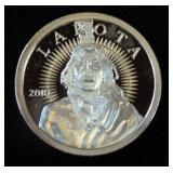 2010 Lakota Indian 1 oz. .999 Fine Silver Round