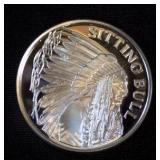 Sitting Bull1 oz. .999 Fine Silver Bullion Round