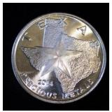 2014 Texas Longhorns 1 oz. Silver Bullion Round