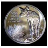 2016 Texas Star Coyote 1 oz. Silver Round