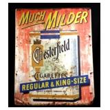 "Chesterfield ""Much Milder"" Metal Sign"
