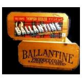 2 Ballantine Produce Co. Fruit Crates