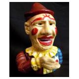 Clown Cast Iron Bank