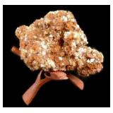Red Quartz Crystal Cluster On Stand