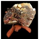 Crystalline Agate Rock Specimen on Stand