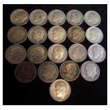 20 Roosevelt Dimes - 2 Ounces of Silver 1943-1964