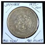 1873-1914 90% Silver Japanese Yen Coin