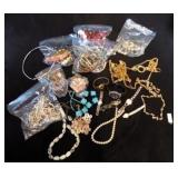 4 Pound Bag of Assorted Costume Jewerly