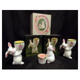 3 Cute Avon Easter Bunny Votive Holders