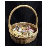 Basket of Decorative Easter Eggs