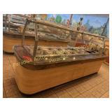 Hot Buffet Bar  40 x 140 with plate holder - each