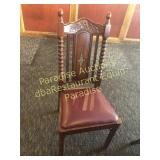 WOOD Heavy Chair Quality with New Upholstered Cush