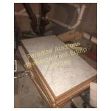 Wood Edged Table 30x48 with White Laminate