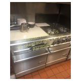 DCS STOVE with burners right, griddle left