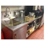 stainless heavy counter w  72x30 with sink on let0