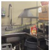 Soil Corner Table for Dishwasher w Racking