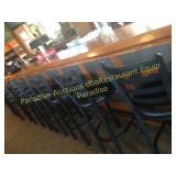 Bar stools -- vinyl black cushion