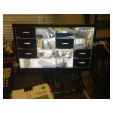 Security system with monitor and cameras