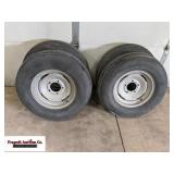 (4) 7.60-15 used trailer tires, still decent tread