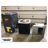 Goodman 86,000 BTU propane furnace and Goodman cen