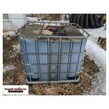275 gallon tote of used oil. Item is located near