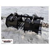 """Hawz Attachments 66"""" Grapple Bucket, couplers are"""
