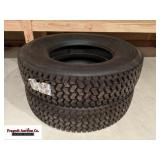 (2) Michelin 275/80R23.5 tires, appear to be new..