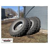 (4) Goodyear 320/90R50 tractor tires, on rims, se.
