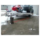 2 Place snowmobile trailer, aluminum, lifetime lic