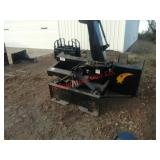 2013 Walco skidloader snow blower. 2 stage, single