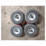 Tires off a swing away hopper, 410/350-4 (1 set of