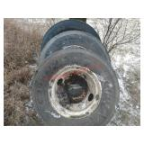 11R22.5 Truck tires and rims (3). Item is located