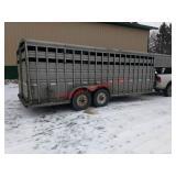 1994 Titan gooseneck stock trailer. 7x22