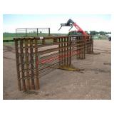 (5) Freestanding corral panels, 24
