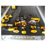 Dewalt 18V sawzall, 3 flashlights, impact driver,