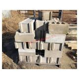 Pallet of cement blocks. Item is located near Will