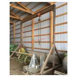 A-Frame hoise, 1 ton chain hoist w/ 2 ton trolley,