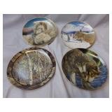 Lot of 4 Wolf Collector Plates by Eric Renk