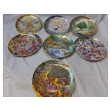 7 Franklin Mint By Bill Bell Collector Plates