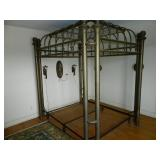 Full/Queen Canopy Brass Bed