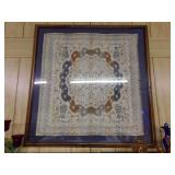 """Large Framed Antique Tapestry 42"""" x 41"""""""