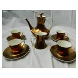 10 pc Copper Luster Block Midasoa China Tea Set