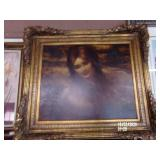 Gold Gilt Framed Lady Picture