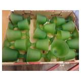 Lot of 16 Green Grape Goblets